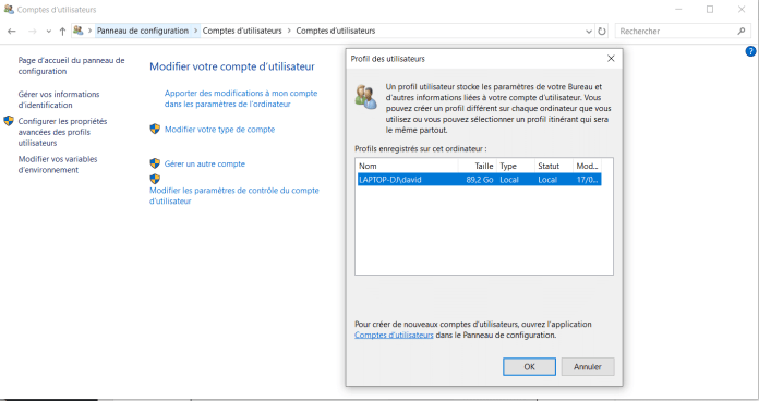 Comment supprimer un profil utilisateur dans Windows 10 ?