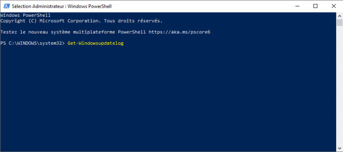 Générer logs Windows Update