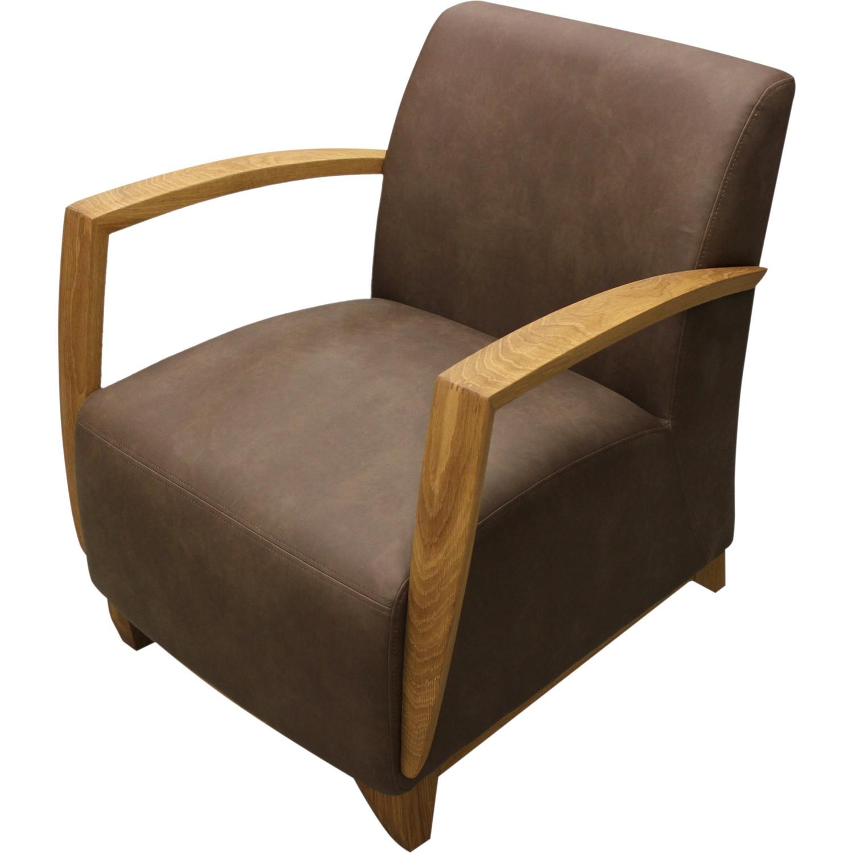 fauteuil avec accoudoir en bois borneo
