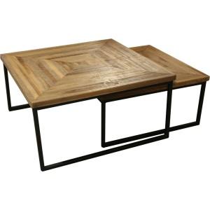 table basses gigogne pieds metal et