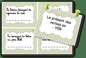 cartes à tâches verbes en YER