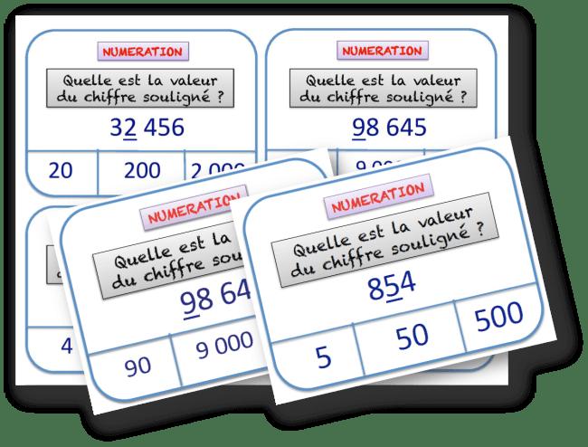 cartes a taches de numeration