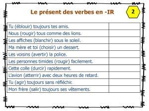 Fiches A Taches Conjuguer A L Indicatif Present L Ecole D Ailleurs
