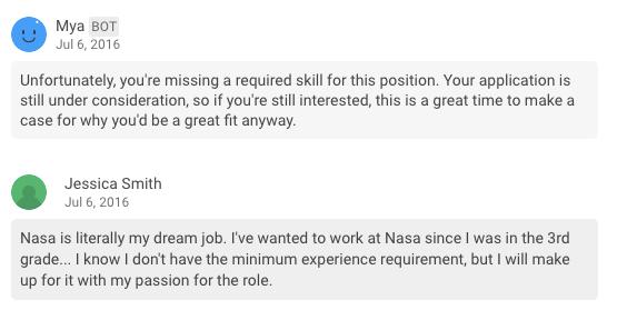 chatbot mya recrutement intelligence artificielle