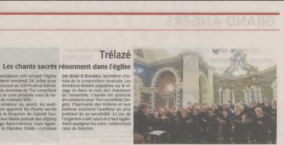 Trélazé Newspaper article