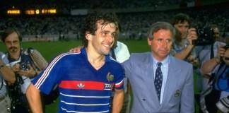 Michel Hidalgo et Michel Platini