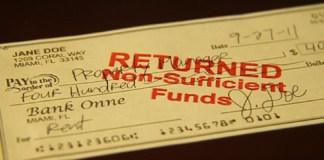 chèques sans provision