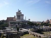 Blick auf Palast und Forum Romanum In Rom