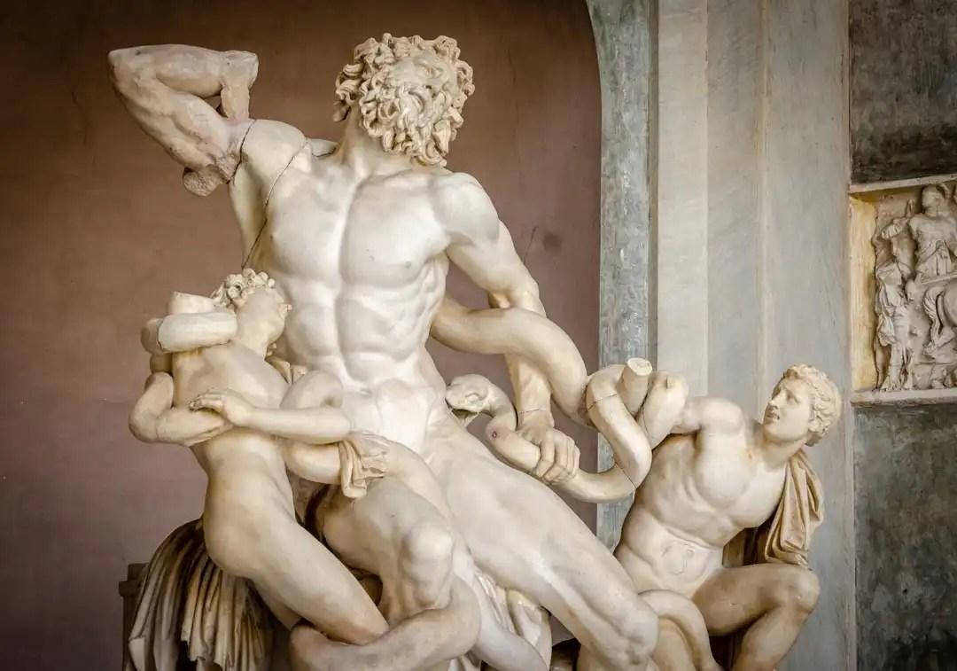 gruppo scultoreo del Laocoonte al Museo Pio Clementino, Musei Vaticani