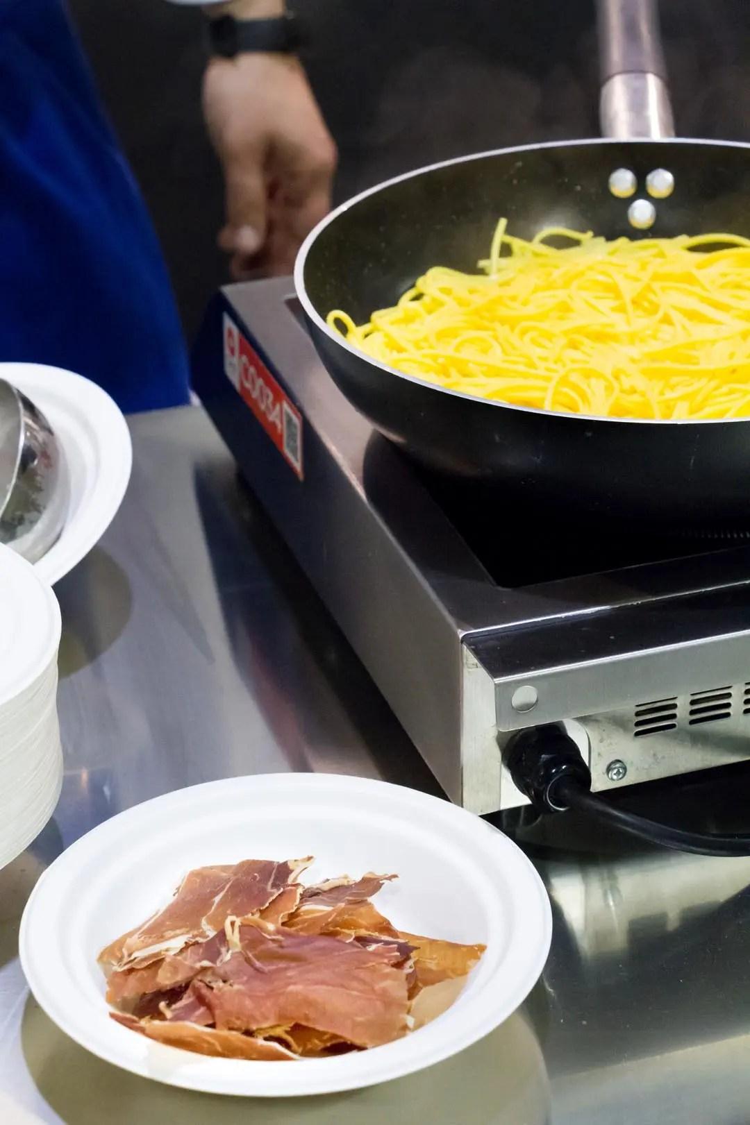 Pasta carbonara preparazione