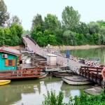 Ponte di Torre d'Oglio: il ponte delle barche del 1926 vicino al Po