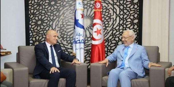 Olivier Poivre d'Arvor et Rached Ghannouchi