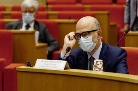 Le premier président de la Cour des comptes, Pierre Moscovici lors d'une audition sur la lutte contre la fraude fiscale au Sénat, à Paris, le 8 septembre 2020.