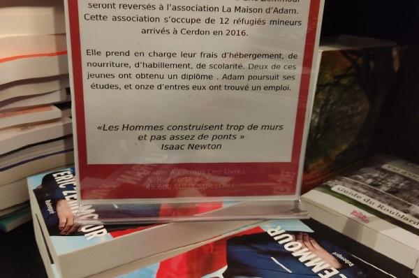 Une libraire reverse les bénéfices de la vente du livre d'Eric Zemmour à une association d'aide aux migrants