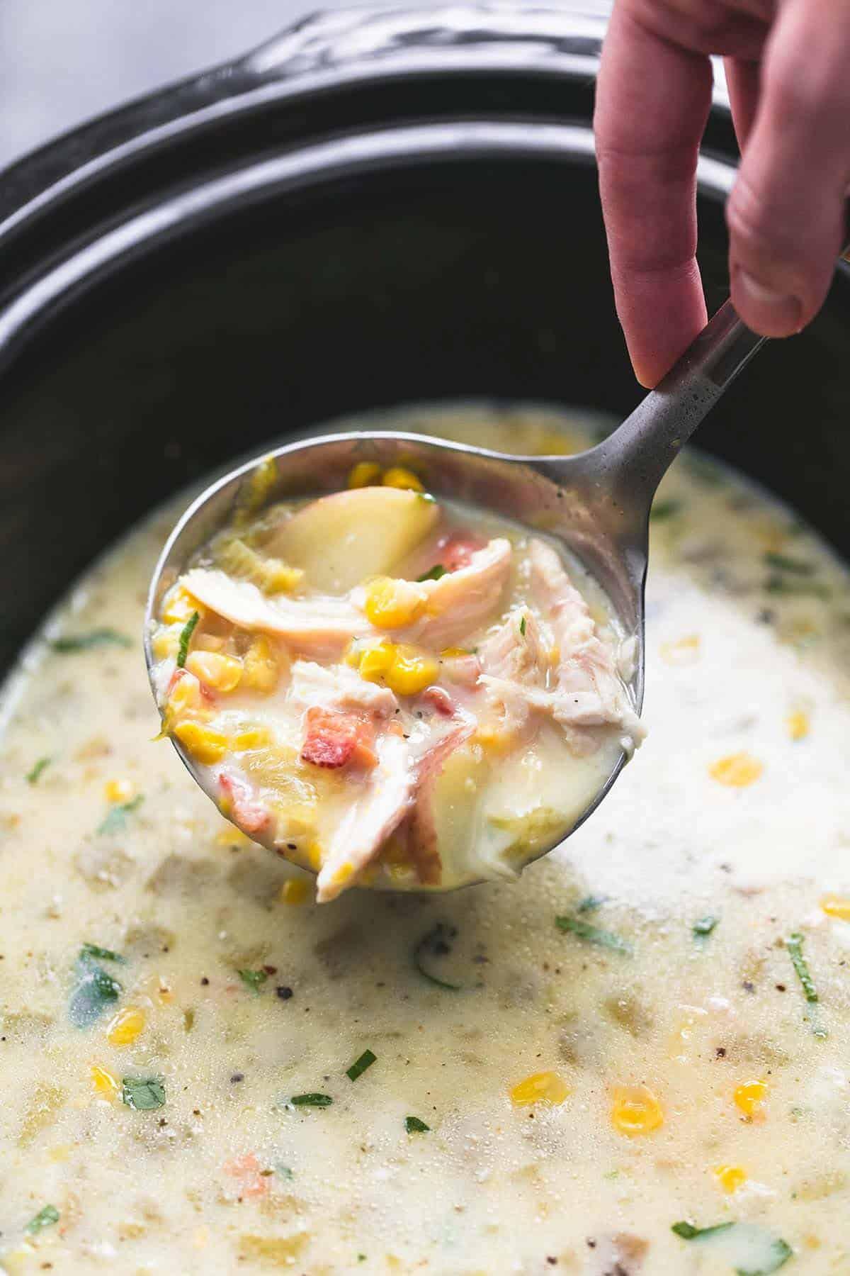 Slow Cooker Corn Chowder | lecremedelacrumb.com
