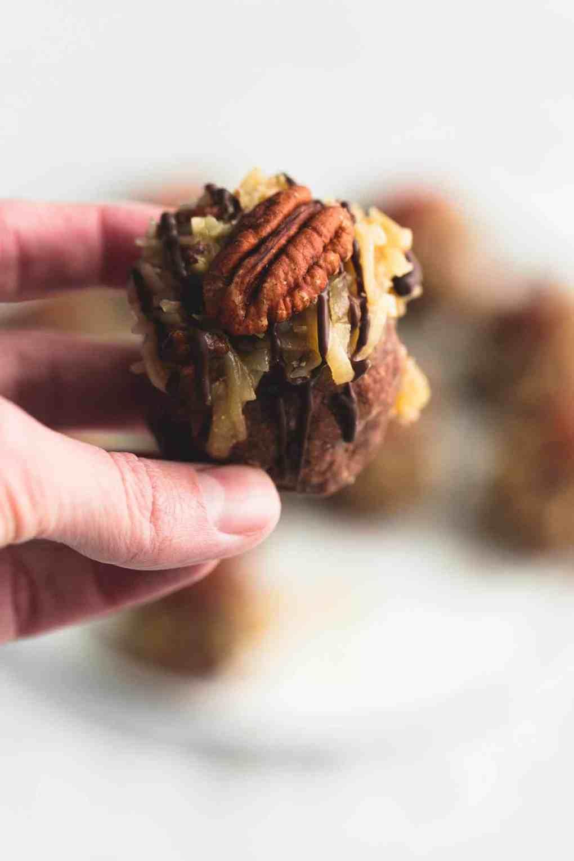 German Chocolate Cookie Balls   lecremedelacrumb.com