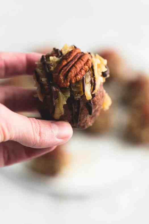 German Chocolate Cookie Balls | lecremedelacrumb.com