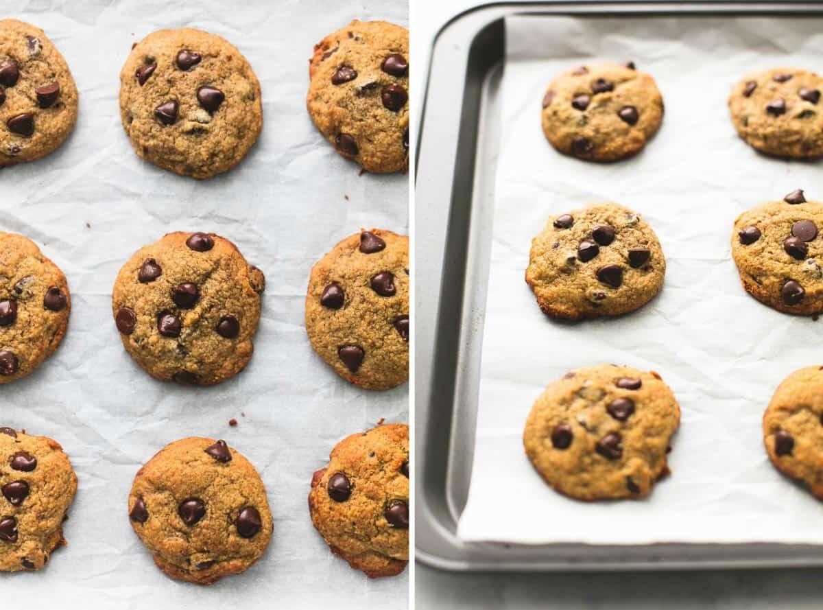 BEST Ever Healthy Banana Chocolate Chip Cookies   lecremedelacrumb.com