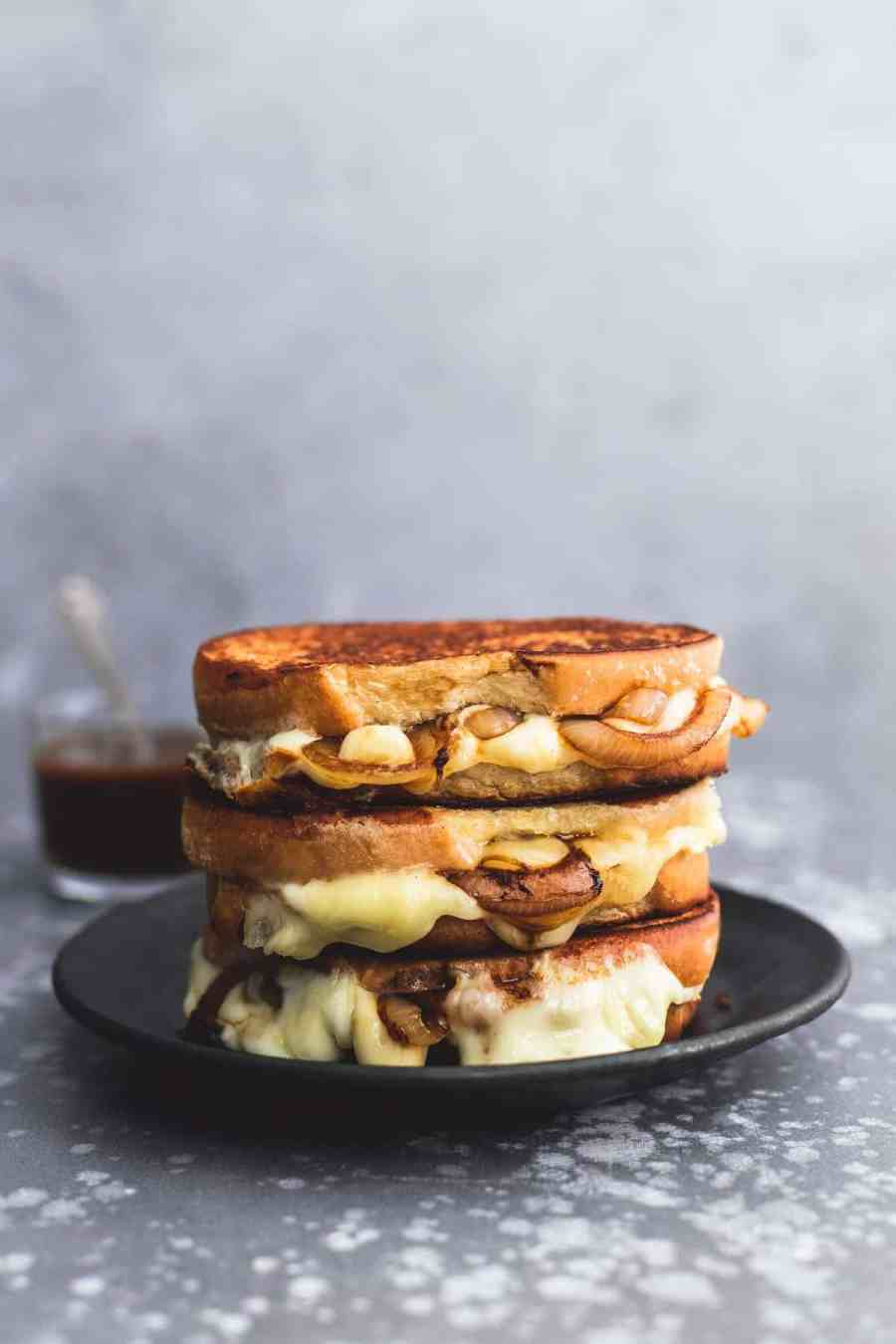 French Onion Grilled Cheese   lecremedelacrumb.com