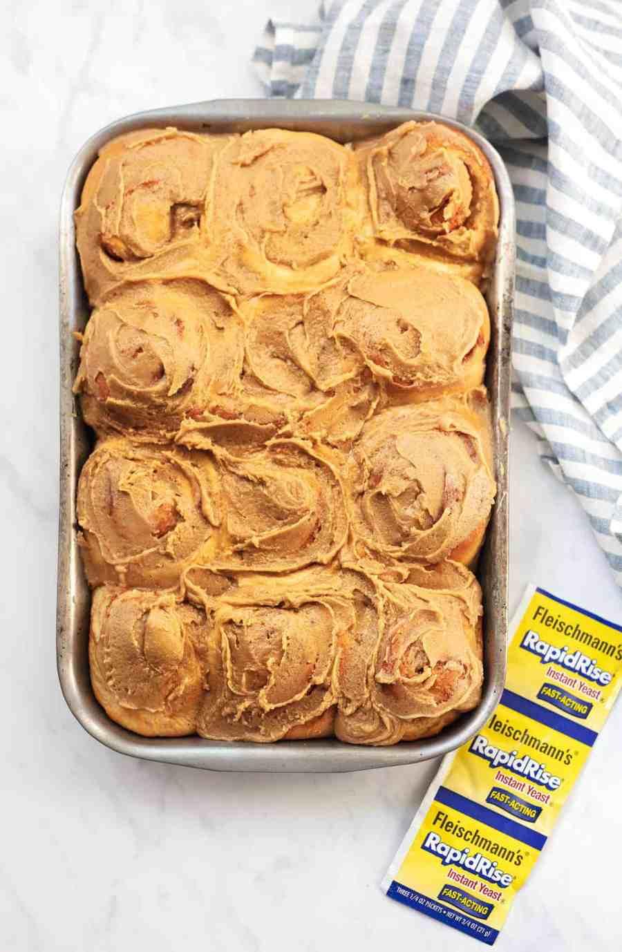 Super Soft Cinnamon Rolls with Brown Sugar Frosting   lecremedelacrumb.com