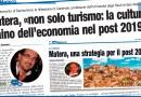 MATERA, «NON SOLO TURISMO: LA CULTURA TRAINO DELL'ECONOMIA NEL POST 2019»