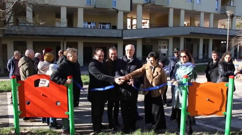 inaugurazione parco europa sindaco de luca