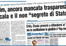 """CRLM, ANCORA MANCATA TRASPARENZA CICALA E IL NON """"SEGRETO DI STATO"""""""