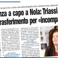 DA POTENZA A CAPO A NOLA: TRIASSI VS TUTTI RISCHIA TRASFERIMENTO PER «INCOMPATIBILITÀ»