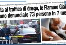 LOTTA AL TRAFFICO DI DROGA, LE FIAMME GIALLE HANNO DENUNCIATO 73 PERSONE IN 7 MESI
