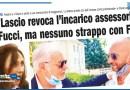 DI LASCIO REVOCA L'INCARICO ASSESSORILE A FUCCI, MA NESSUNO STRAPPO CON FDI