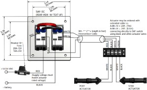 Wiring Diagram  Flat Rocker Switch (SAFS, SAFNS, SFS