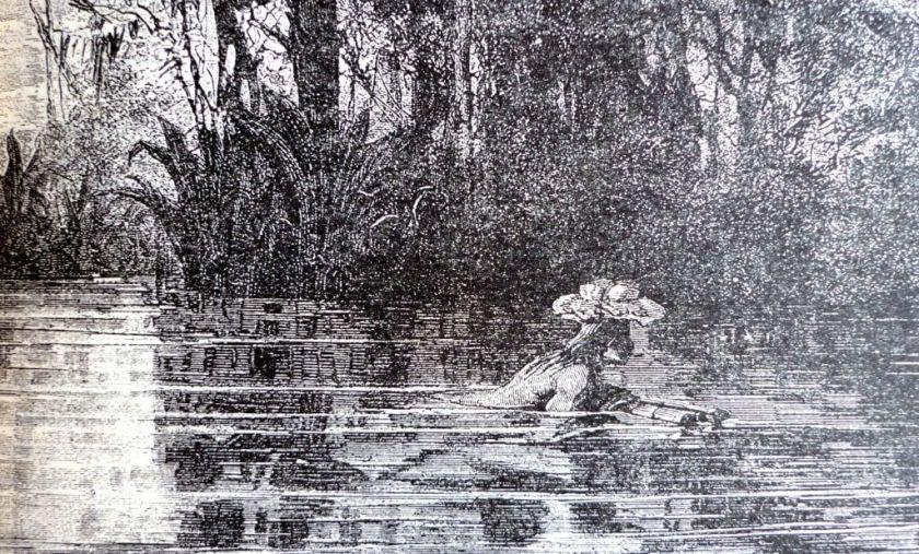 indio atravesando el rio cauca a nado