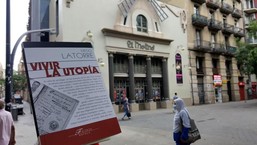 Libro Vivir la utopía. En el fondo el teatro El Molino