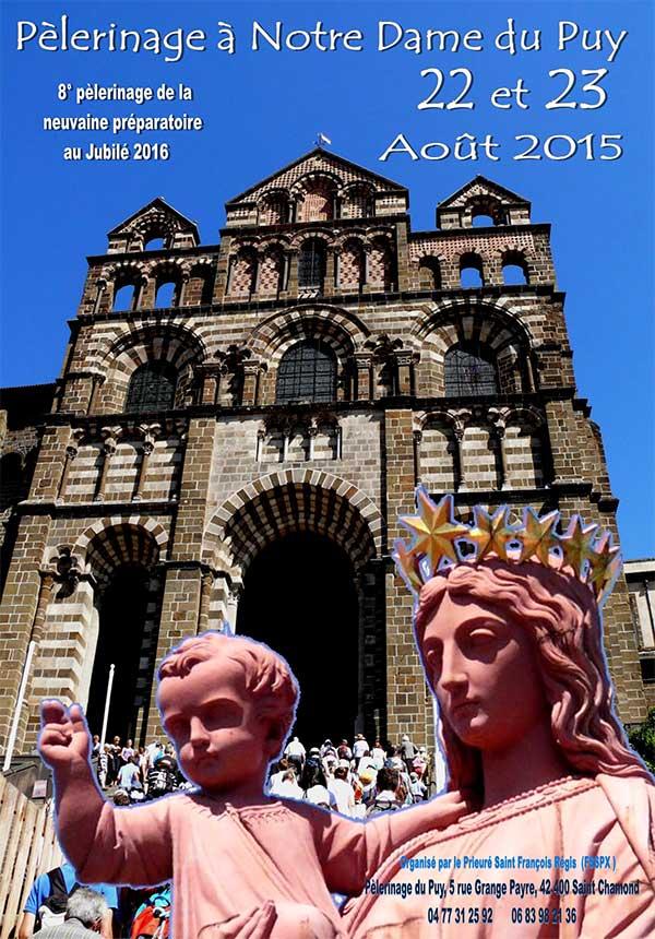 8°pèlerinage au Puy de la neuvaine préparatoire au jubilé 2016