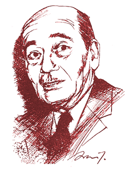 Portrait de Henry Coston, fondateur de Lectures Françaises, la revue de la politique française