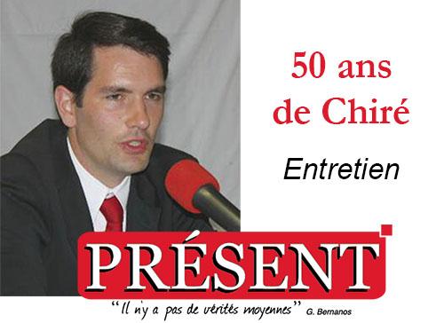 Les noces d'or de Chiré, Entretien avec François-Xavier de Hautefeuille dans le journal présent  du 01/07/2016