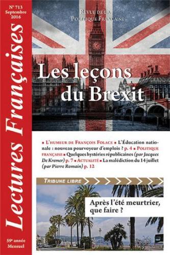 N° 713 – Septembre 2016 : Les leçons du Brexit