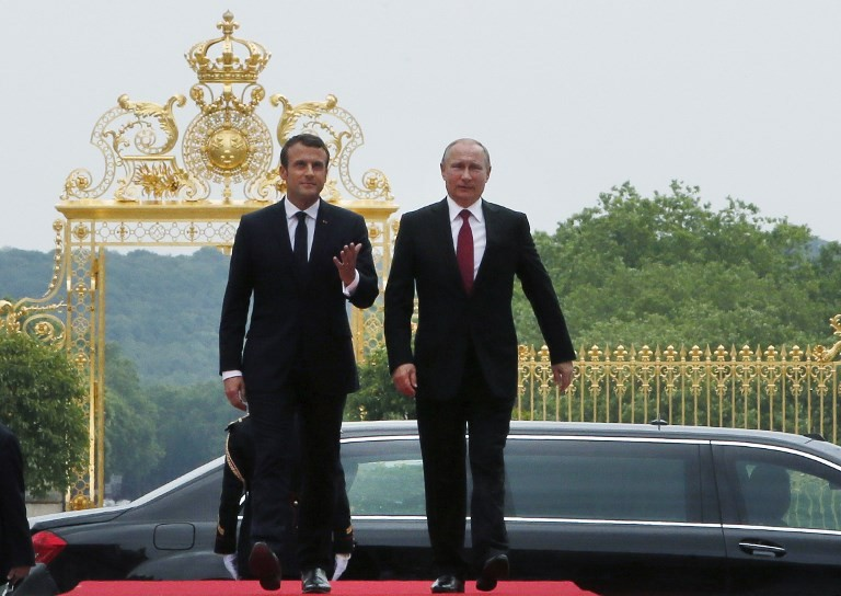 Vladimir Poutine reçu à Trianon