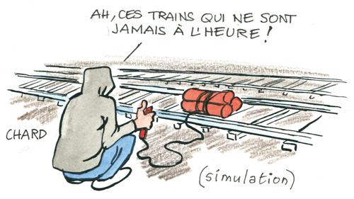 L'alerte au déraillement des trains
