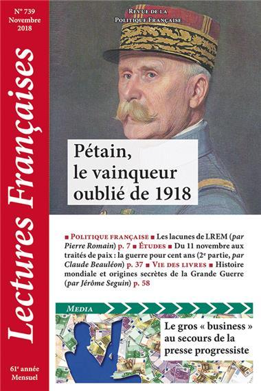 N° 739 – Novembre 2018 : Pétain, le vainqueur oublié de 1918
