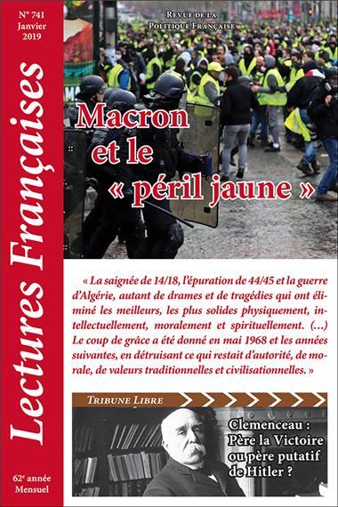 N° 741 – Janvier 2019 : Macron et le «péril jaune»