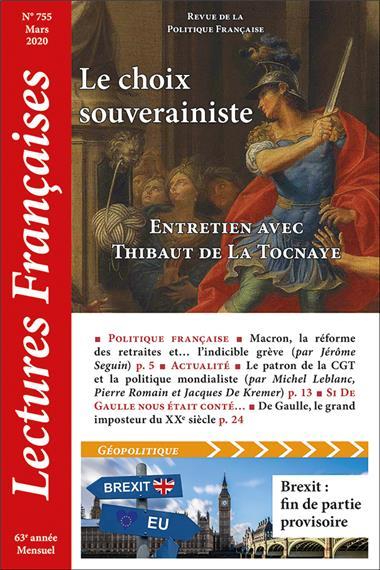 N° 755 - Mars 2020 : Le choix du souverainisme - Entretien avec Thibaut de La Tocnaye