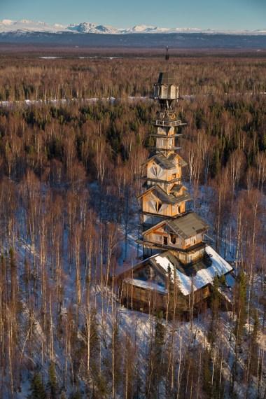 Cabane de 56 mètres - Phillip Weidner en Alaska - Hiver