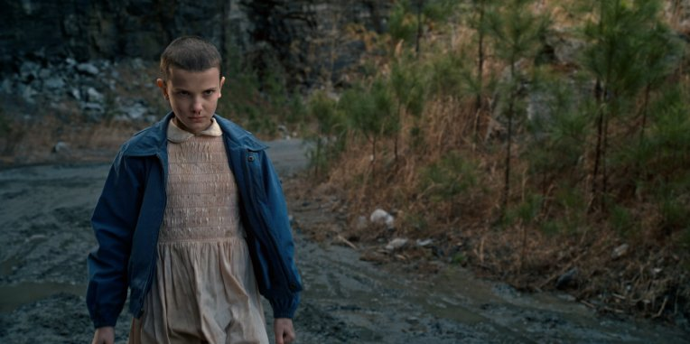 Stranger Things Eleven énervée