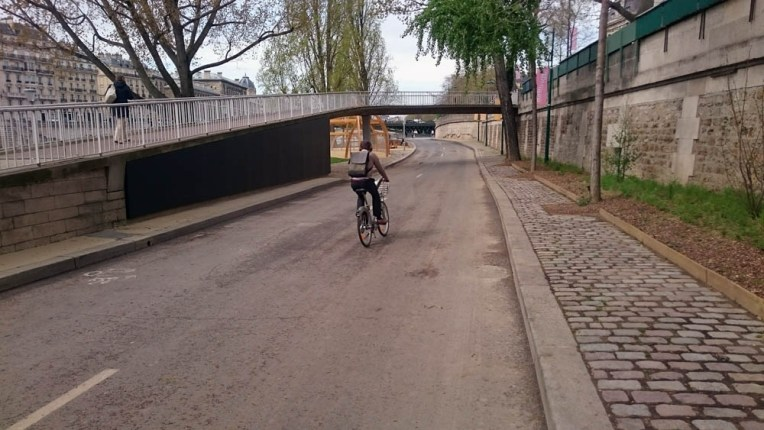 Les voies sur berges piétonnisées à Paris