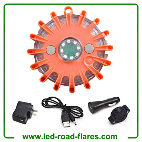 Red Rechargeable 24 Led Road Flares For Fire Department