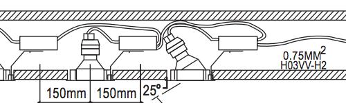 tynd downlight kabel løs fjeder nordlux spots