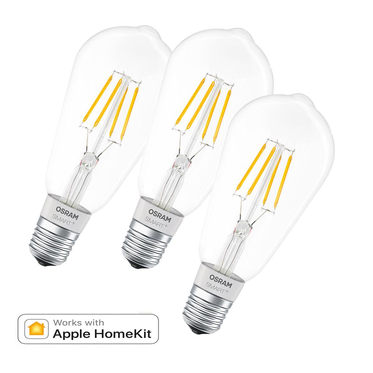 Osram Smart Apple Homekit Edison Filament Lampe E27 5 5w 50w 650lm K Dim 3e