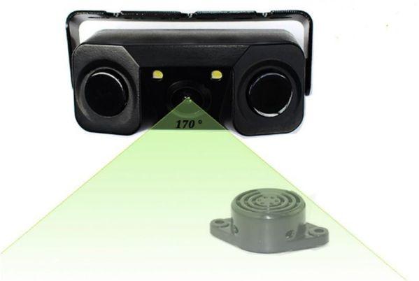 Senzori parcare cu camera video 2 in 1 si 2 senzori de parcare incorporati S451