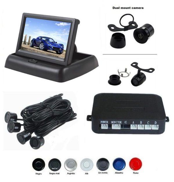 Senzori parcare cu camera video si display LCD de 4.3 pliabil S612-P
